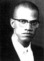 [Photo of Malcolm X]